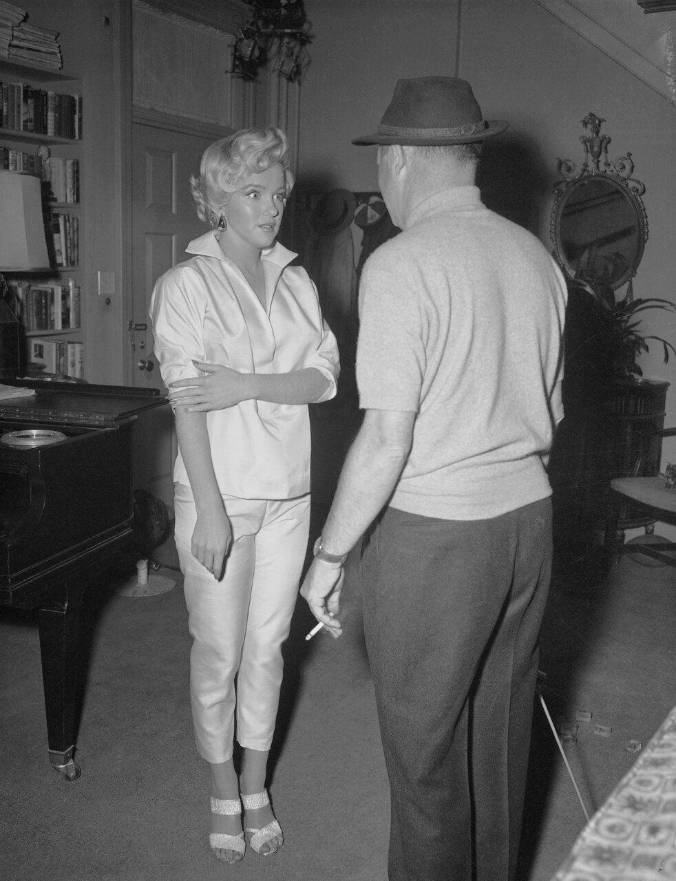 Marilyn Monroe and Billy Wilder