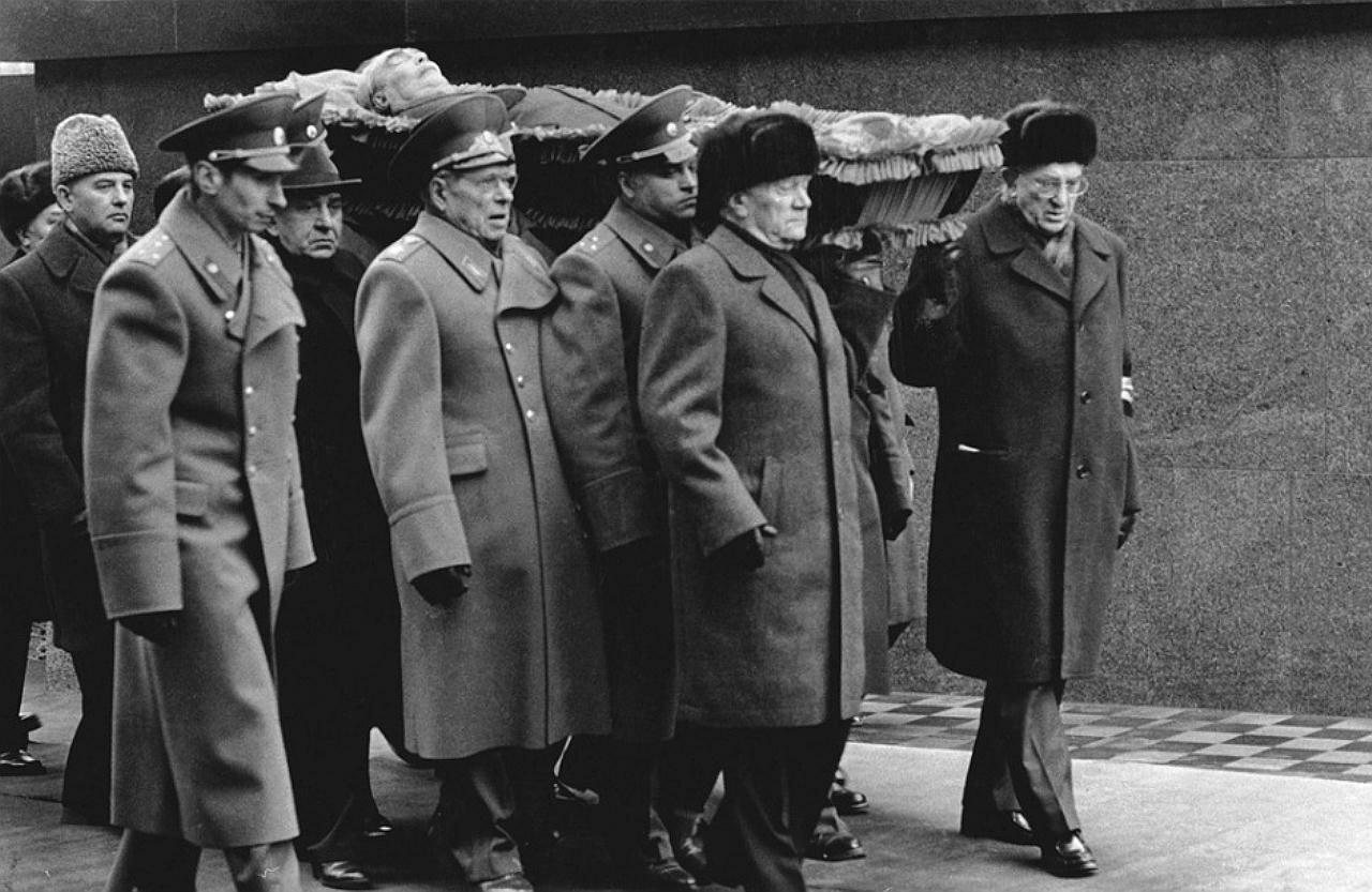 Андропов, Горбачёв, похороны Брежнева, Генсеки