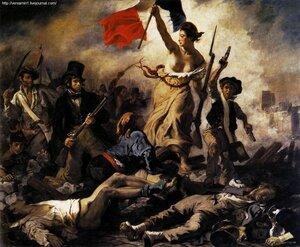 Свобода ведущая народ, (Свобода на баррикадах)1830 Делакруа, Эжен.(1798 — 1863)