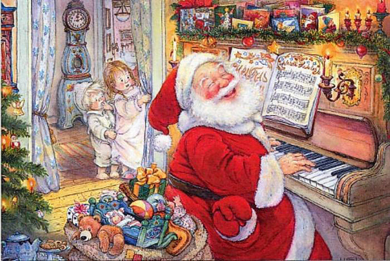 сажать с новым годом рояль открытка один самых