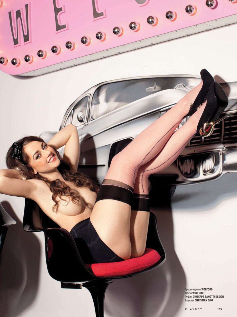 голая Ингрид Олеринская в журнале Playboy Россия, декабрь 2012