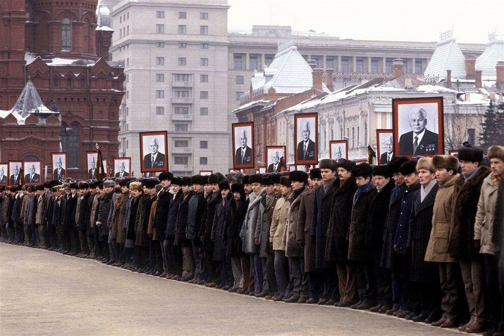 1985 Похороны Константина Черненко Абрамочкин.jpg
