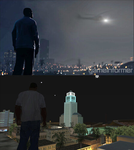 Gta 5 Vs Gta San Andreas Similar Locations Grand Theft