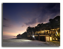 Малайзия. Лангкави. BerjayaLangkawi_Beach_Restaurant_-_Facade_At_Night