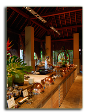 Малайзия. Лангкави. Four Seasons Resort Langkawi. Serai breakfast pavillion