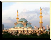 Малайзия. Куала-Лумпур. ФотоThe Federal Territory Mosque at Kuala Lumpur, Malaysia, spectrelabs - Depositphotos