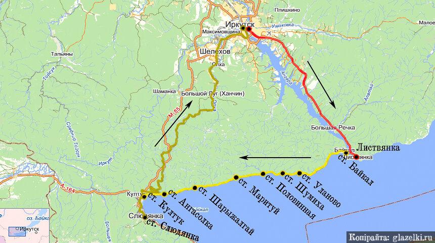 Схема экскурсионного маршрута.