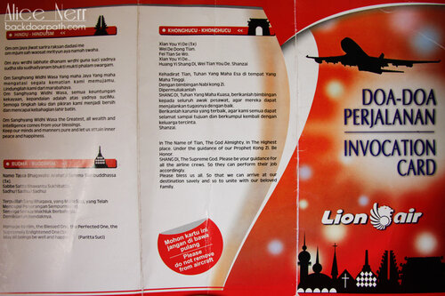 Invocation card Lion Air