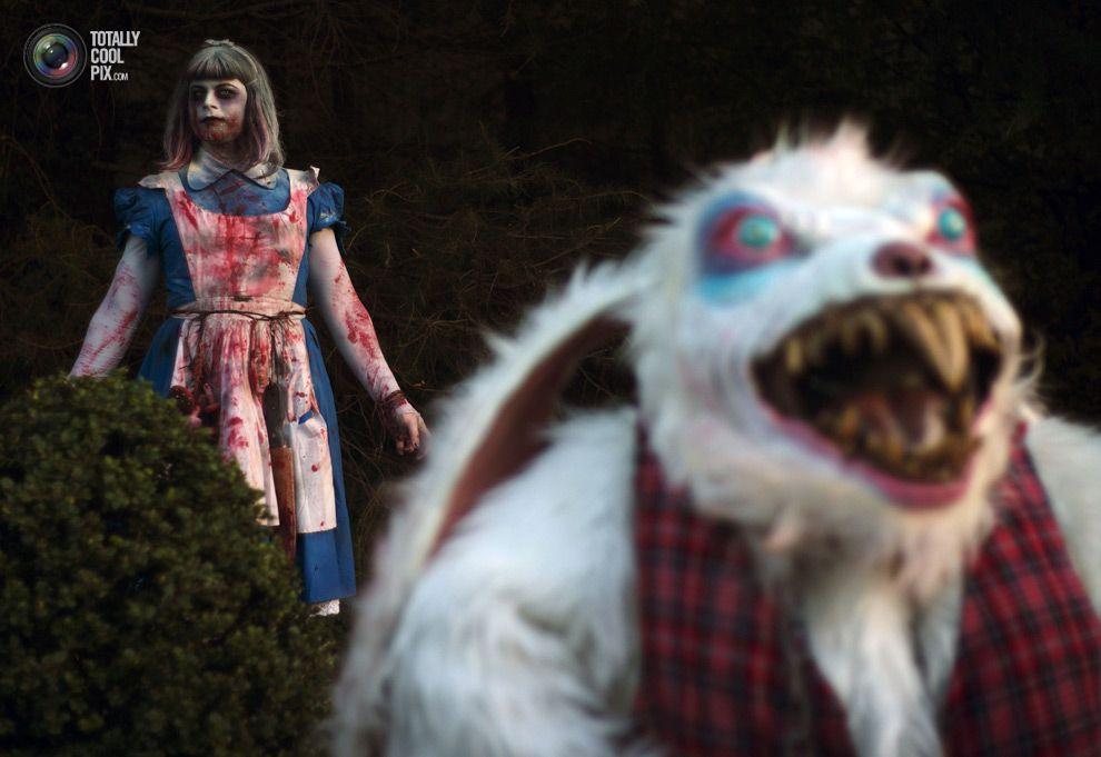 Костюм на хэллоуин очень страшный