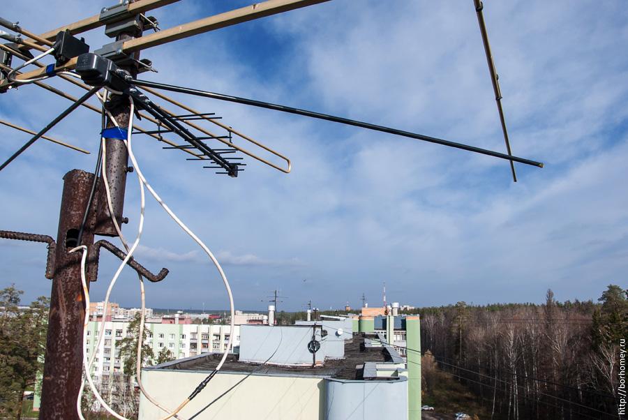 антенны на крыше