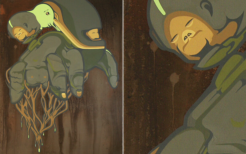 [суб]культура: Граффити по-немецки. SatOne - художественные настенные иллюстрации из Германии. 28 арт-работ.