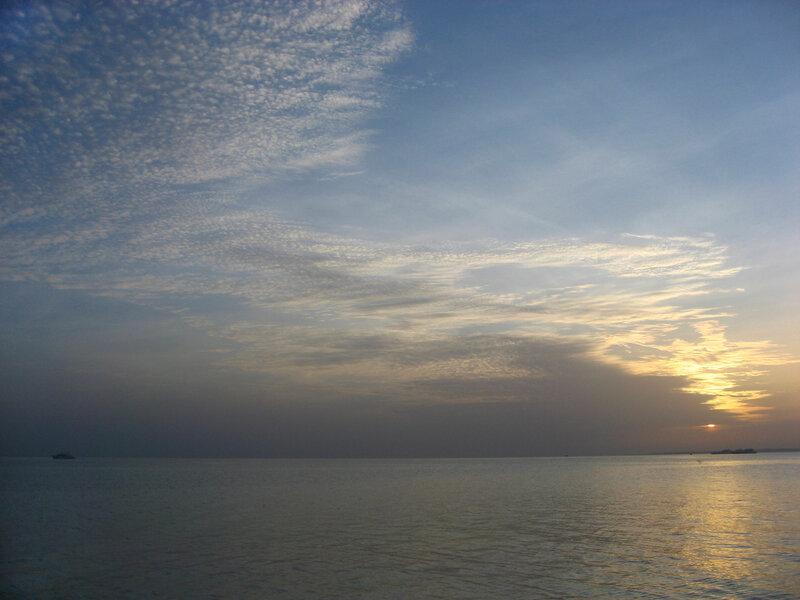 Рассвет на море. Восход солнца в Хургаде - Пляжи, Море, Закаты и восходы - hurgada, egypt