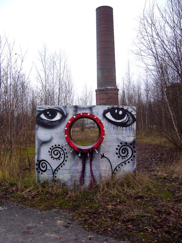 Стрит-арт-дуэт Zonenkinder collective. Гамбург, Германия. 35 фото