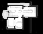 Прихожая, ванная-шкаф, кухня, гостиная, терраса, план, первого этажа, проект жилого дома для 10-ти спальных мест