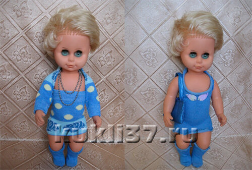 платье для куклы из носков