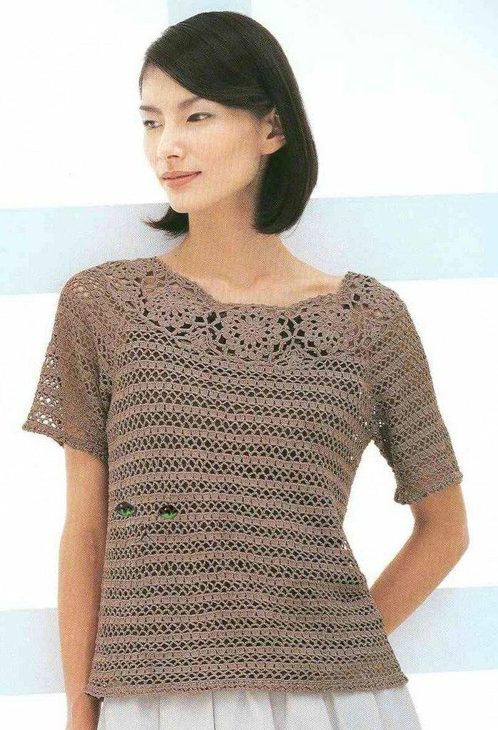 Crochetpedia crochet tshirt blouse dt1010fo