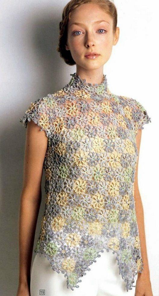 Crochet Free Patterns Blouse : Crochetpedia: Crochet Shirt Blouse Patterns 2