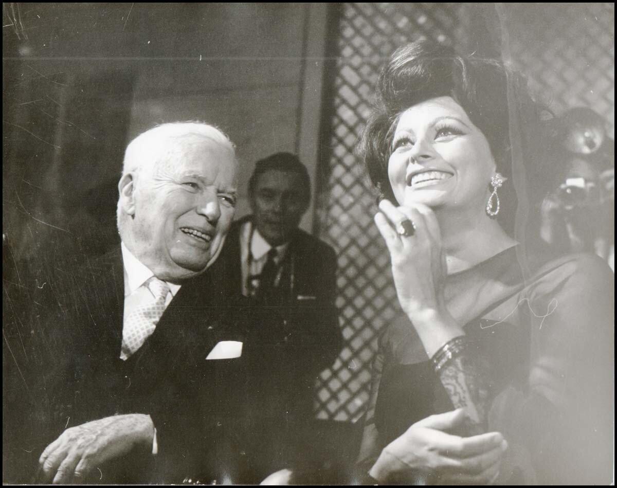 1965. Чарли Чаплин и Софи Лорен