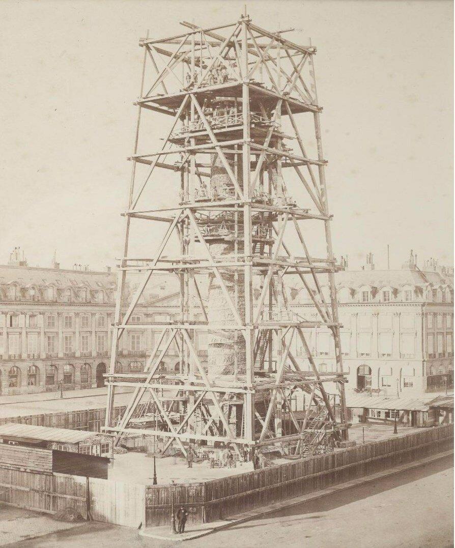 1873. Восстановление Вандомской колонны после Коммуны