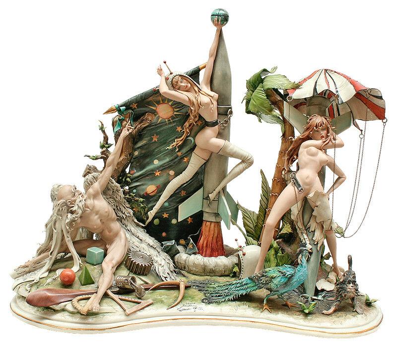 Фарфоровые статуэтки знаменитой фабрики фарфора Каподимонте