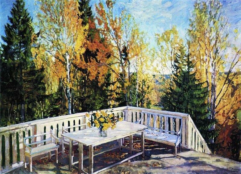 картина жуковского осень веранда: