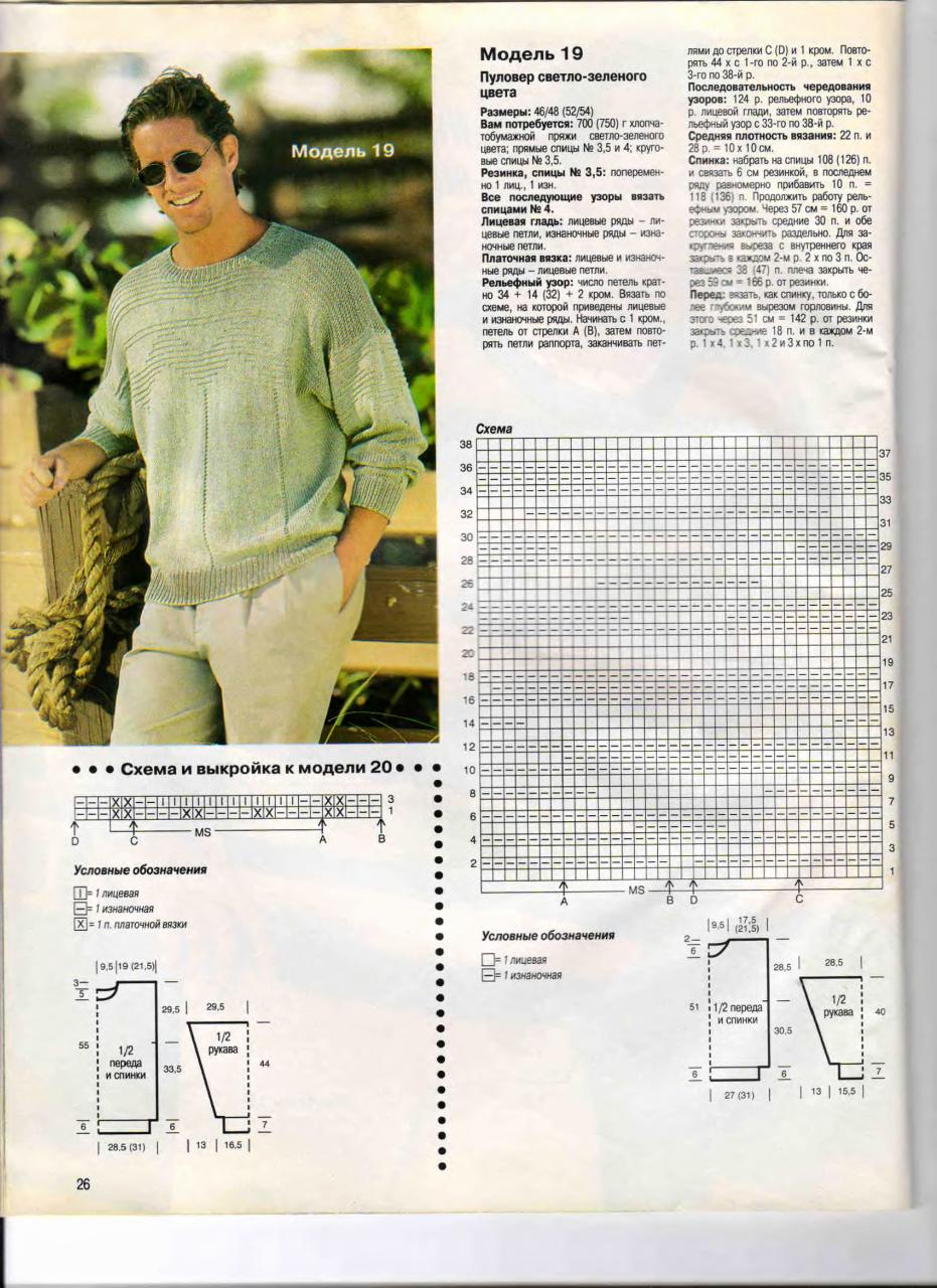 Вязание ливинтернет спицами для мужчин