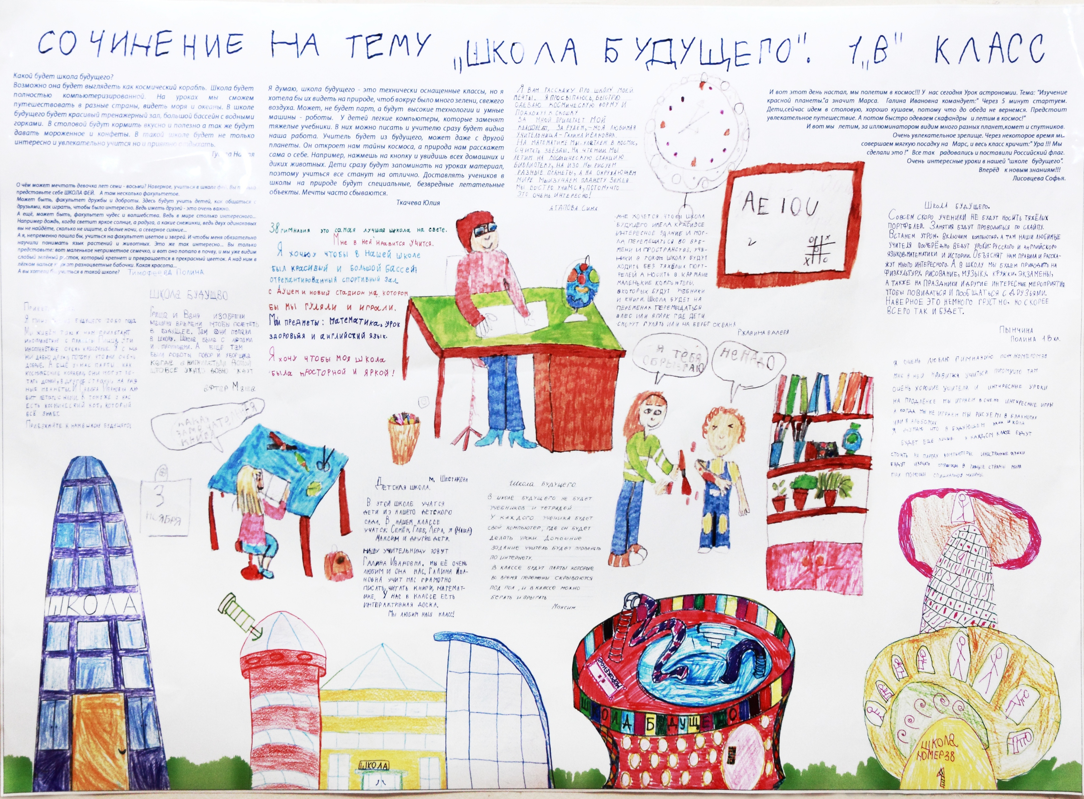 Сочинения по английскому на тему школа моей мечты