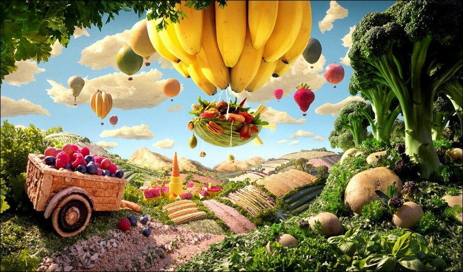 Пейзажи из продуктов питания