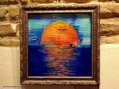 Картина на стекле художницы  Венеры Сабировой