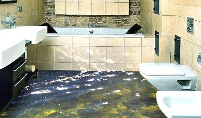 Наливные полы в ванной своими руками фото
