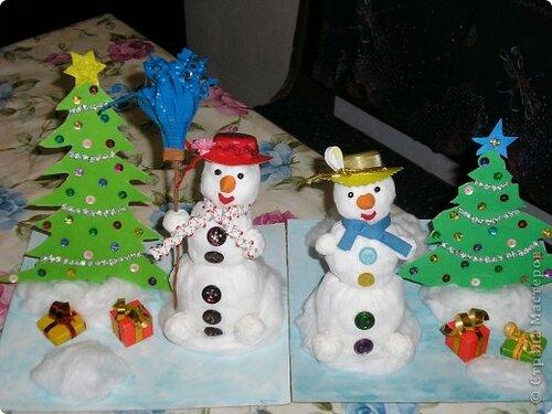 Снеговик своими руками для школы