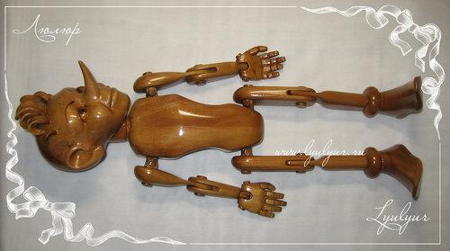 Буратино, игрушка деревянная, буратино из дерева, полено