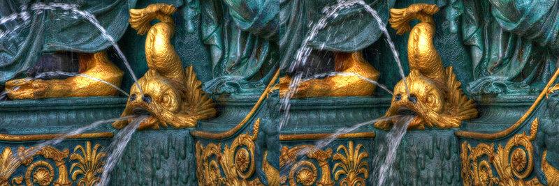 Париж Фрагмент фонтана на Площади Конкорд