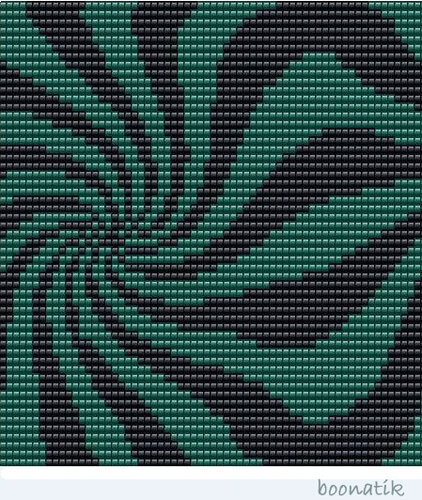 Схема на 64 бисерины в ширину