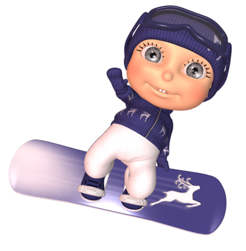 Pygmy- сноубордист.
