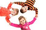 Three children lying