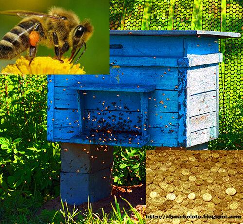 Улей и пчелы