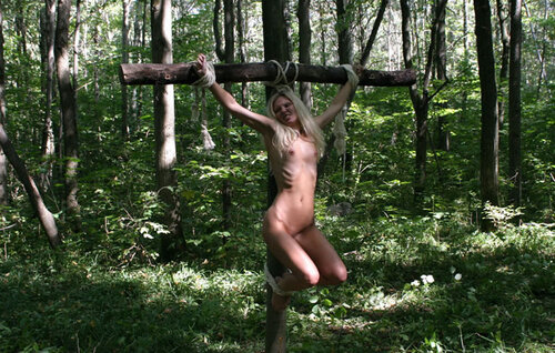 Девушку мучают в лесу видео — 3