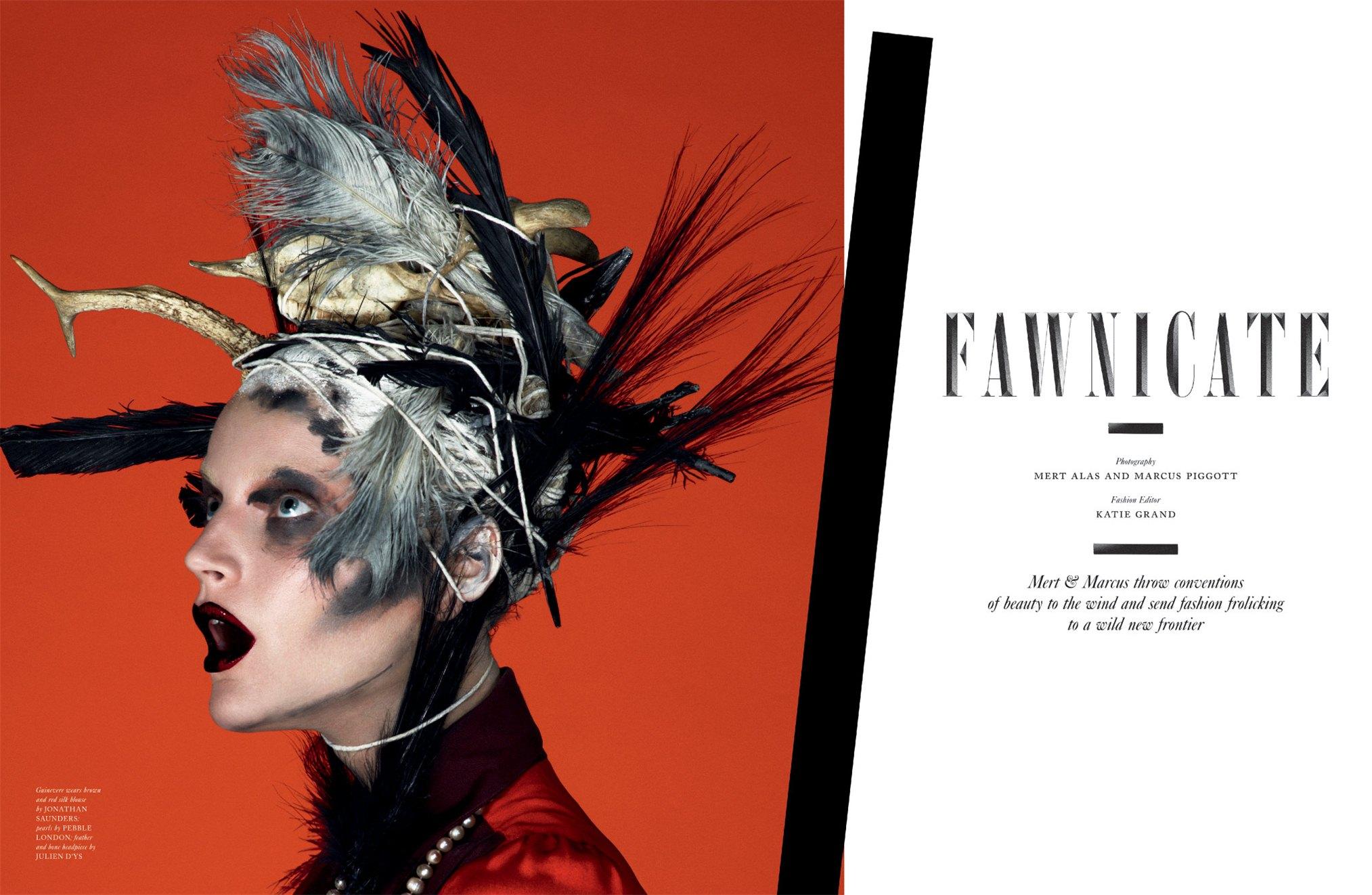 Джунивьера ван Синус / Guinevere Van Seenus - Fawnicate by Mert - Marcus in LOVE Magazine fall-winter 2012