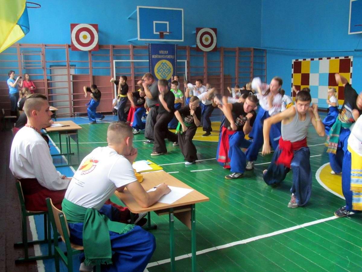 Квалификационный групповой экзамен в школе боевого гопака города Нетешин (Хмельницкая область) (15)