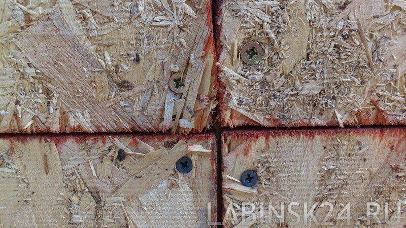 Разбухшие листы ОСП на стыках внешних стен