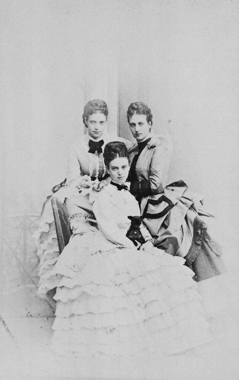 1866-1870. Александра Датская и цесаревна Мария Фёдоровна и принцесса Тира Датская