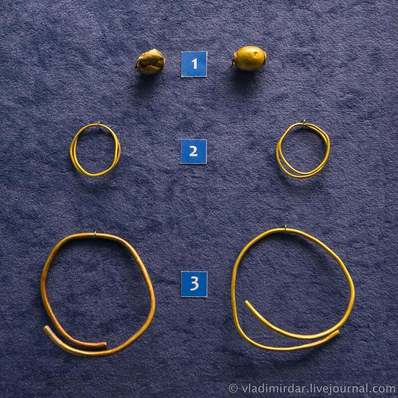 Буисны, кольца височные, браслеты. Золото.