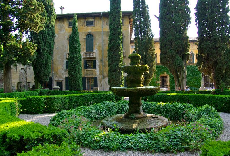 Giusti gardens verona italy tall cypress trees and a labyrinth