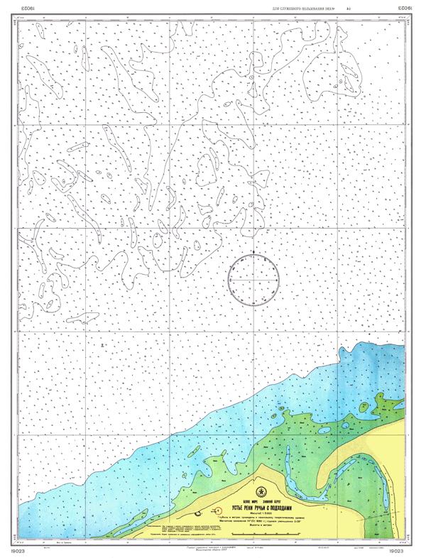Устье реки Ручьи с подходами - морские навигационные карты на lenv.ru
