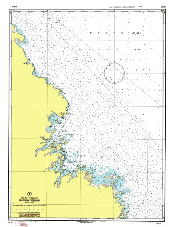 Губа Гридина с подходами - морские навигационные карты на lenv.ru