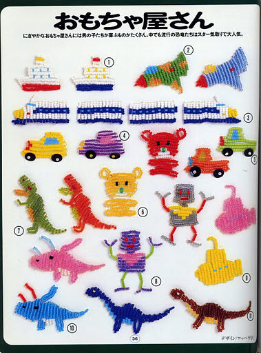 Фигурки для детей из бисера.
