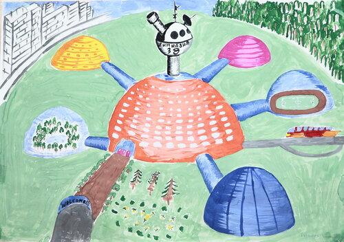 Школа будущего. Рисунки учеников начальных классов