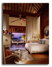 Малайзия. Лангкави. Four Seasons Resort Langkawi. Melaleuca Pavilion bedroom