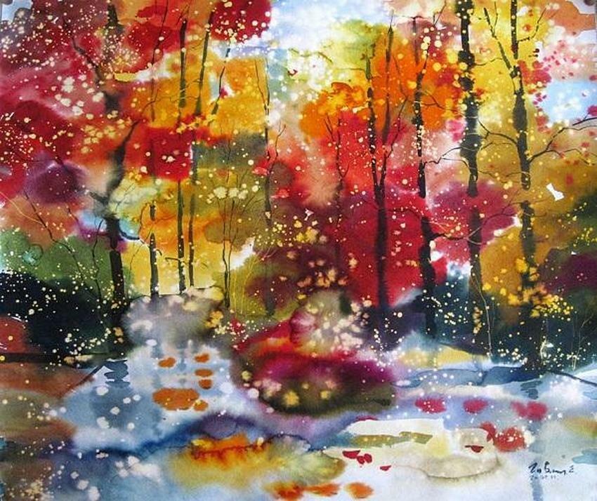 Стояла осень